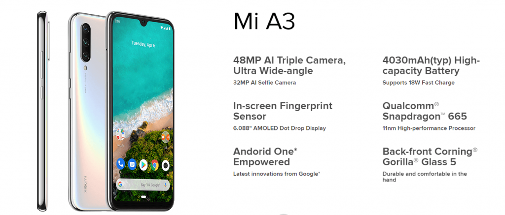 Mi-A3-Specs-And-Features