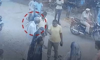 A viral video showed policeman slapping an Old man, could not get up when he fell
